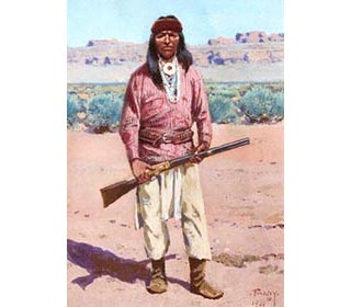 Picture of Apache Warrior with rifle