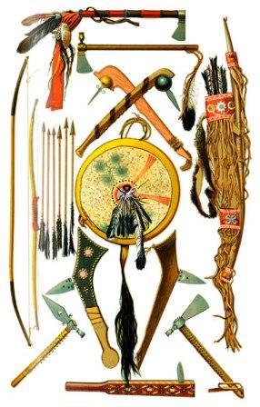 Caddo Indians Weapons and Tools http://garagemag.com/amerindian-weapons